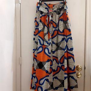 Uniti Casual Printed Long Skirt